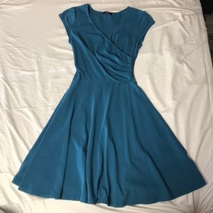 Dresses & Skirts - Teal wrap-front Dress (S)